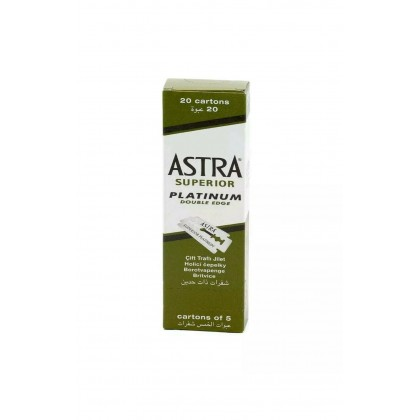 Astra Green Superior Platinum | 100 Double Edge Razor Blades