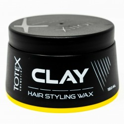 Pack Of 12 Totex Clay Hair Styling Wax Gives Dry Natural Look Size 150ml