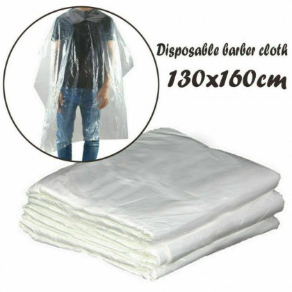 100Pcs Disposable Salon Barber Gown Cloth Hair Cutting Cloak Hairdressing Cape